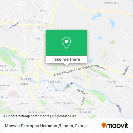 Млечен Ресторан Исидора-Даниел map
