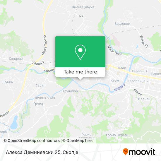 Алекса Демниевски 25 map
