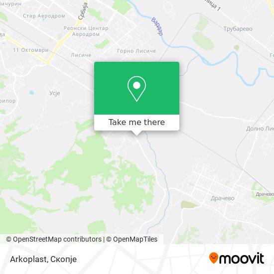 Arkoplast map