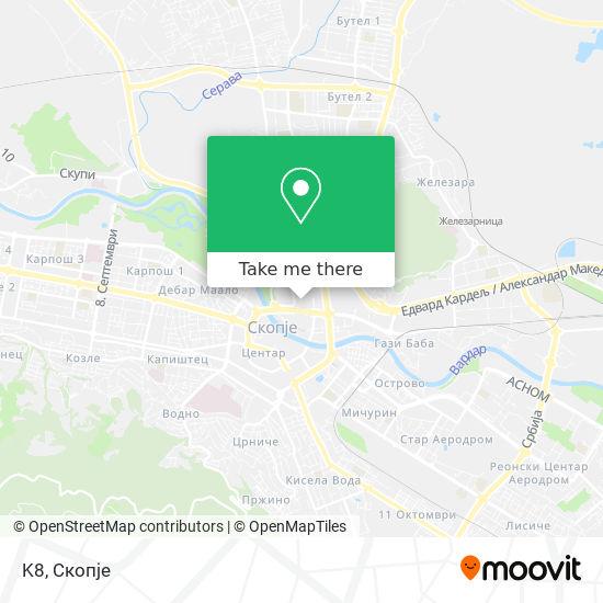 K8 map