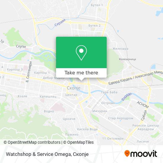Watchshop & Service Omega map