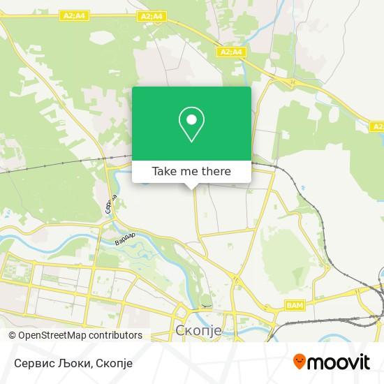 Сервис Љоки map