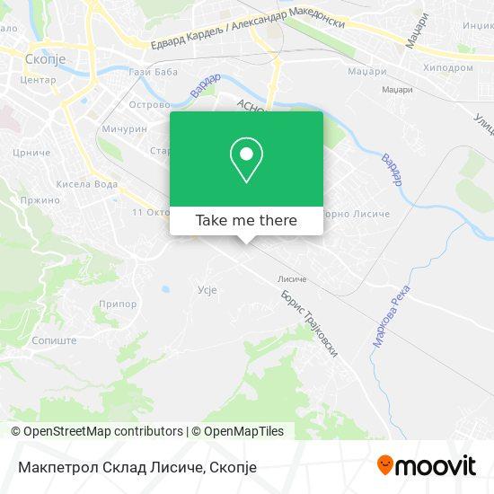 Макпетрол Склад Лисиче map