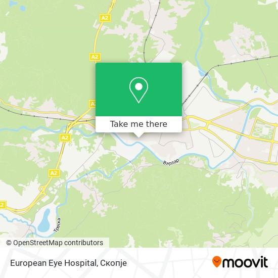 European Eye Hospital map