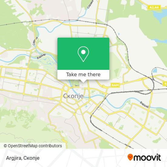 Argjira map