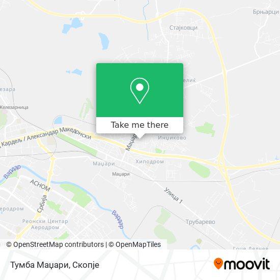 Тумба Маџари map