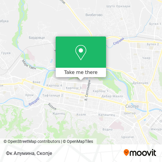 Фк Алумина map