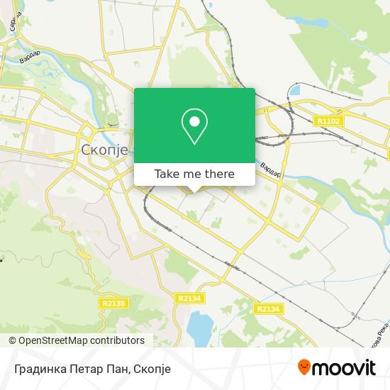 Градинка Петар Пан map