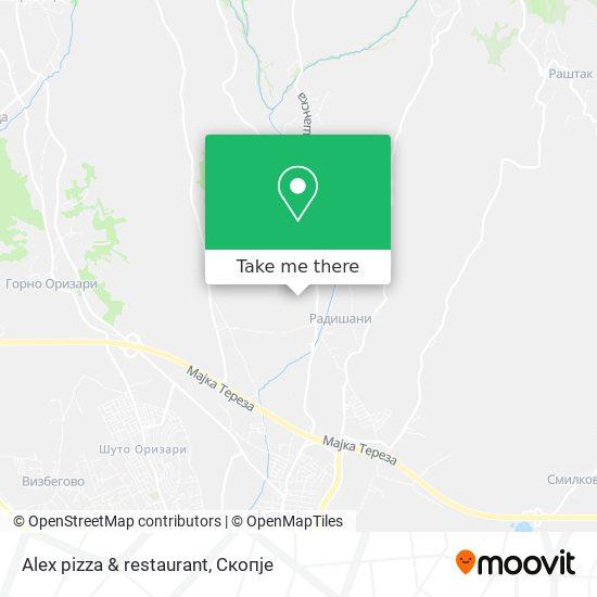 Alex pizza & restaurant map