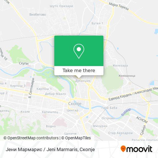 Јени Мaрмaрис / Jeni Marmaris map