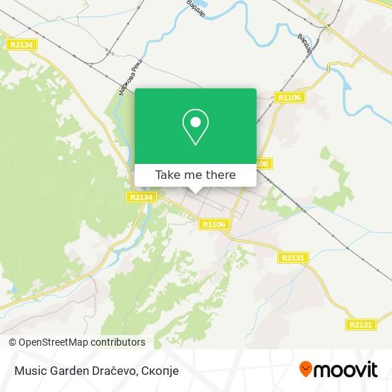 Music Garden Dračevo map