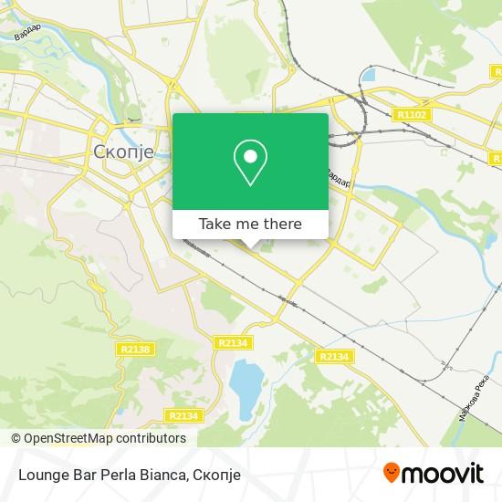 Lounge Bar Perla Bianca map