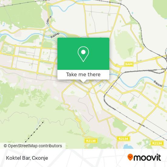 Koktel Bar map