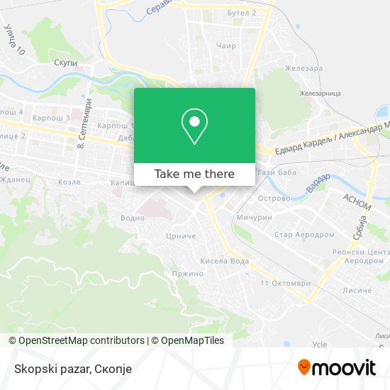 Skopski pazar map