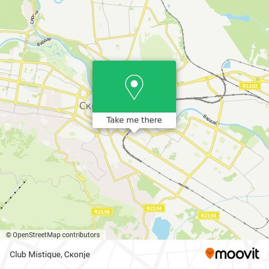 Club Mistique map