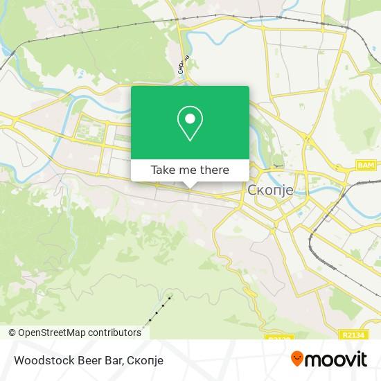 Woodstock Beer Bar map