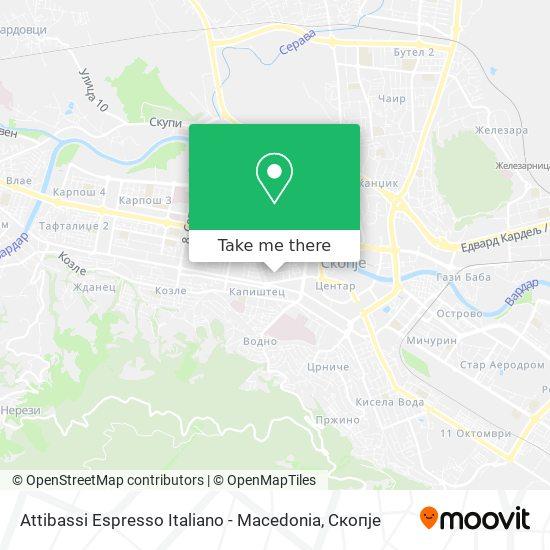 Attibassi Espresso Italiano - Macedonia map
