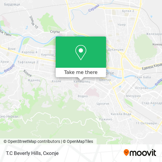 T.C Beverly Hills map