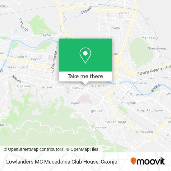 Lowlanders MC Macedonia Club House map
