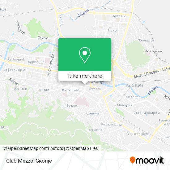 Club Mezzo map