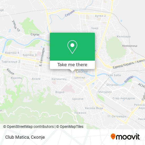 Club Matica map