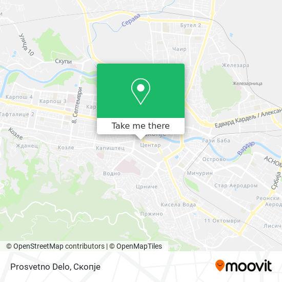 Prosvetno Delo map