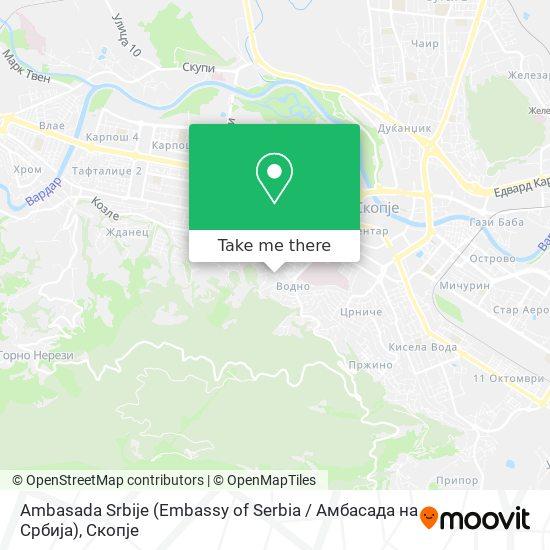 Ambasada Srbije (Embassy of Serbia / Амбасада на Србија) map
