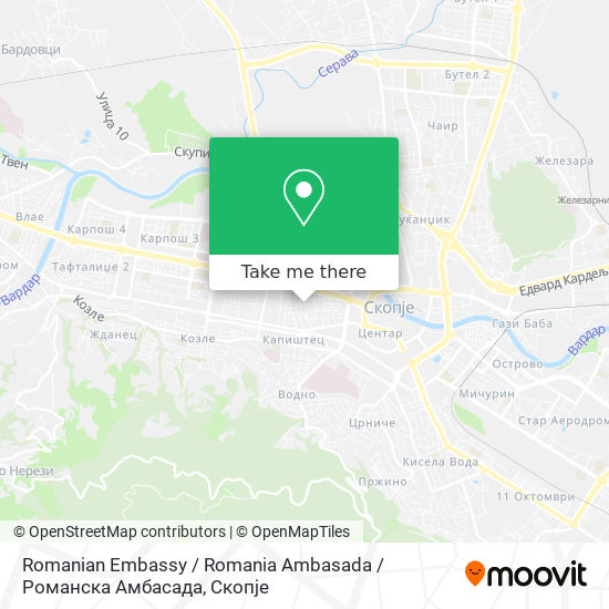 Romanian Embassy / Romania Ambasada / Романска Амбасада map