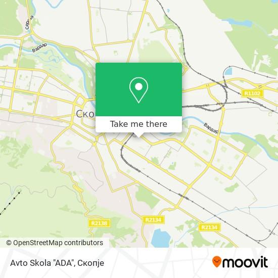 """Avto Skola """"ADA"""" map"""