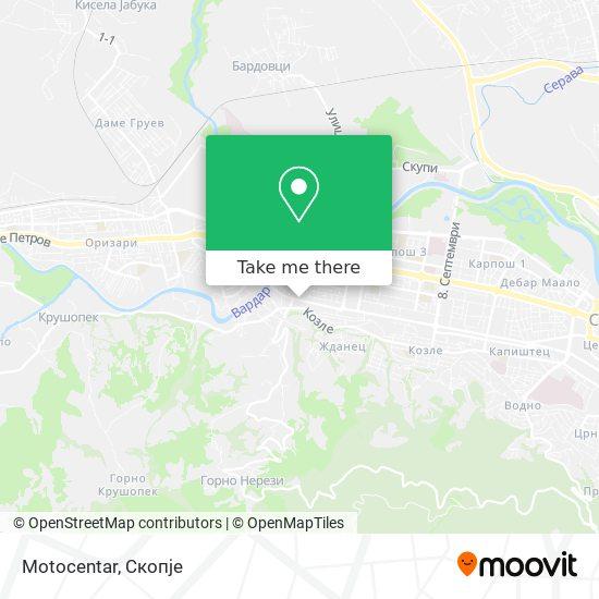 Motocentar map