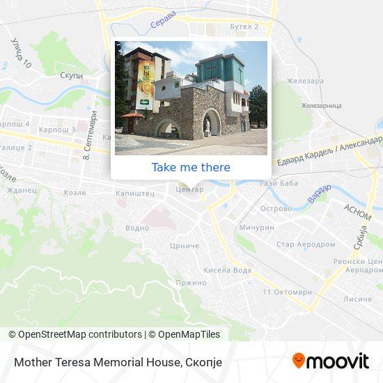 Mother Teresa Memorial House map