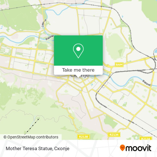 Mother Teresa Statue map