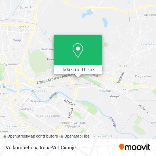 Vo kombeto na Irena-Vel map