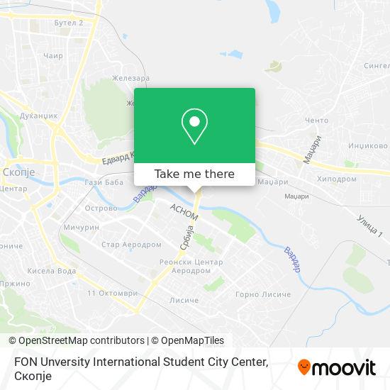 FON Unversity International Student City Center map