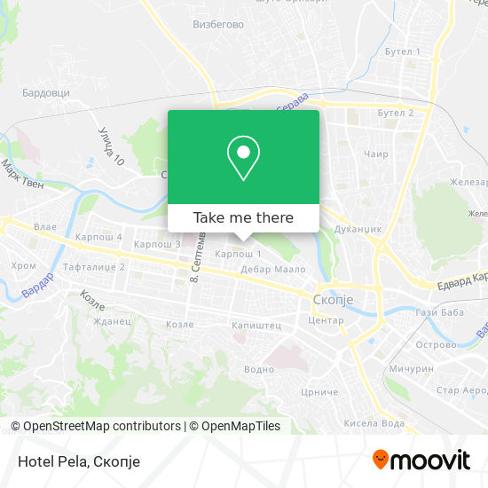 Hotel Pela map