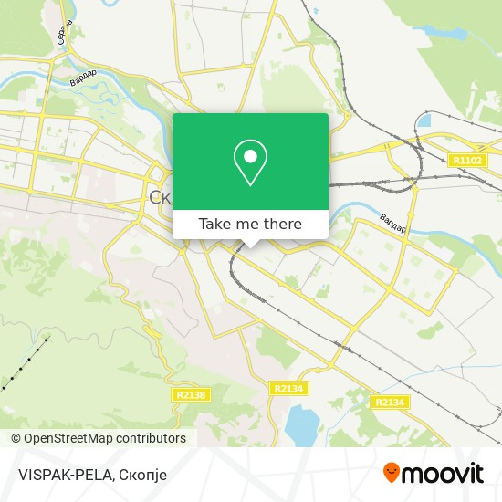 VISPAK-PELA map