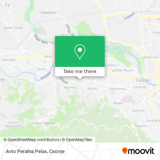 Avto Peralna Pelas map