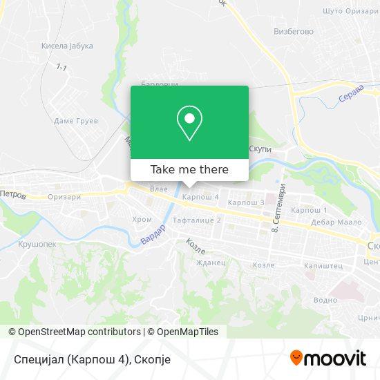 Специјал (Карпош 4) map