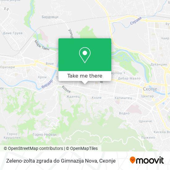 Zeleno-zolta zgrada do Gimnazija Nova map