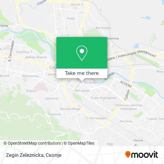 Zegin Zeleznicka map
