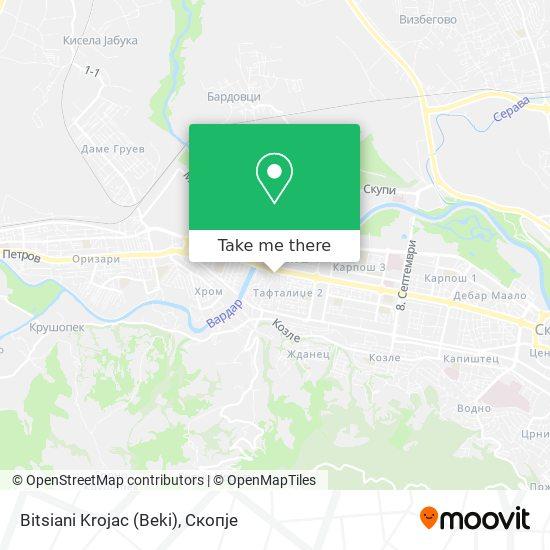 Bitsiani Krojac (Beki) map