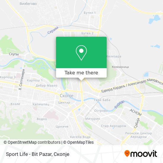 Sport Life - Bit Pazar map