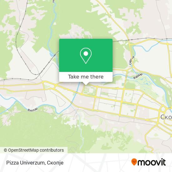 Pizza Univerzum map