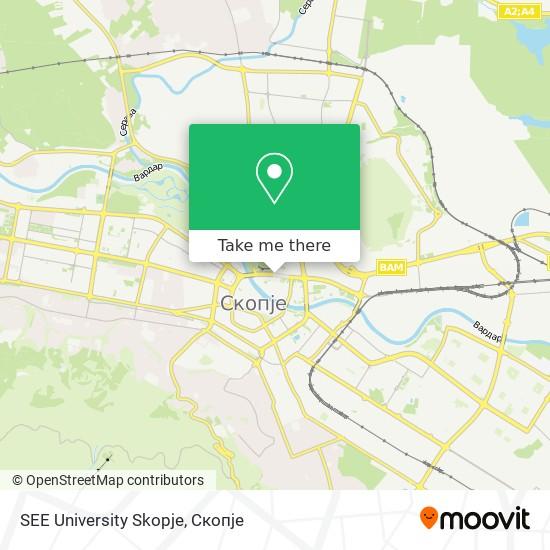SEE University Skopje map