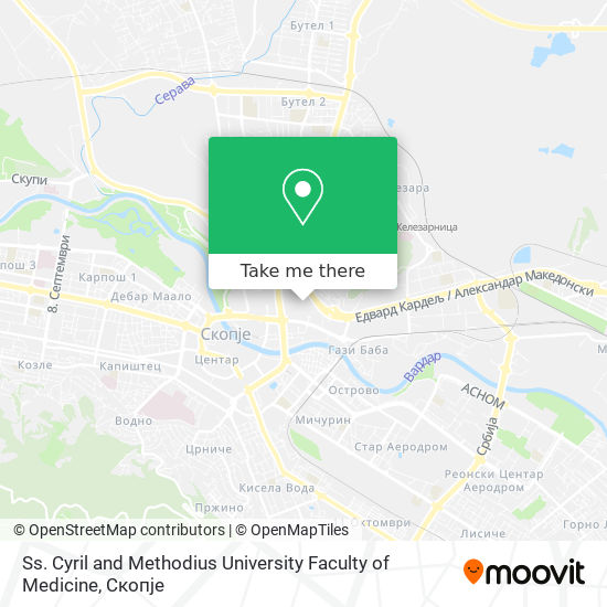 Ss. Cyril and Methodius University Faculty of Medicine map