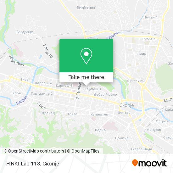 FINKI Lab 118 map
