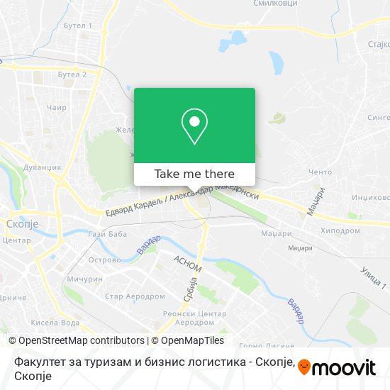 Факултет за туризам и бизнис логистика - Скопје map