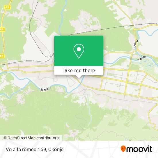 Vo alfa romeo 159 map
