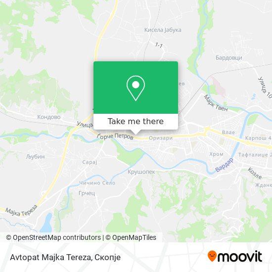 Avtopat Majka Tereza map