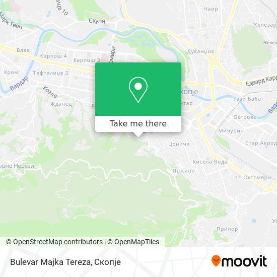 Bulevar Majka Tereza map